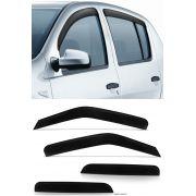 Calha de Chuva Renault Sandero 2008 2009 2010 2011 2012 2013 2014 - 4 Portas - Original + Primer Ade